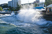 Wave in Alushta Crimea Ukraine — Stock Photo