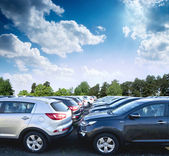 Car new parking — Stock Photo
