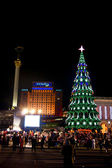 Christmas tree in Kiev! Capital of Ukraine — Stock Photo
