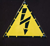 Electric power sign — Stock Photo