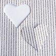 Heart paper - Stock Photo