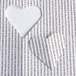 Heart paper — Stock Photo #19496405