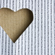 Stock Photo: Heart paper