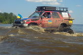 July 26 Tolokun. Kiev region, Ukraine.9 OFF-ROAD-FREE-FEST 2014.Offroad Free Fest - bright, extreme and unique event in the automotive world Europe. — Stock Photo