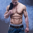 Young handsome athlete - Foto Stock