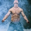 Muscle sexy naked young cute man — Stock Photo