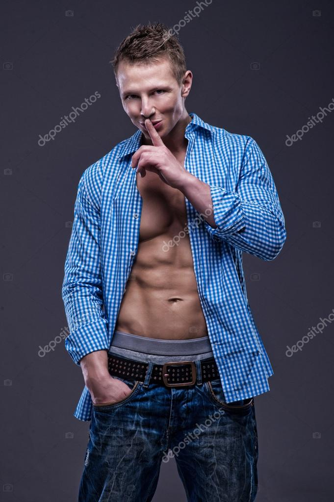 Fit muscular man — Stock Photo #12028044
