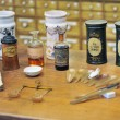 Various pharmacy bottles of homeopathic medicine - 图库照片