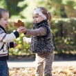 Kids playing in autumn park — Stock Photo #13949483
