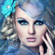 Стоковое фото: Vogue style portrait of beautiful delicate woman