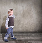Small boy smilling — Stock Photo