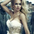 Portrait of beautiful blonde woman - Stockfoto