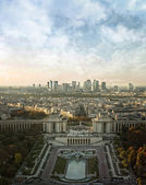 View of Le Defence form the Eiffel tower — Stock Photo