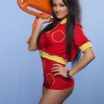 Beauty sexy lifeguard woman — Stock Photo #45793507