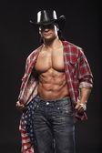 Sexy männer wie cowboy — Stockfoto