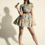 Female posing in summer dress — Stock Photo #49664459