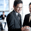 Business men using touchpad — Stock Photo #30839879