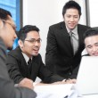 Stockfoto: Asian businessteam work together