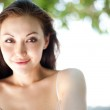 Attractive asian female smiling — Stock Photo