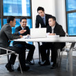 Asian businessteam work together — Stock Photo