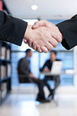 Close up of businessmen shaking hands — Stock Photo