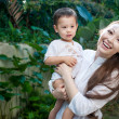 Asian Baby and Mother — Stock Photo