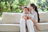 Asian mother with son — Stock Photo