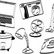 Electronic items — Image vectorielle