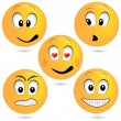 Vector emoticon set — Stock Vector #12113593