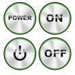 Vector ON - OFF Power button set — Stockvektor