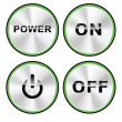 Vector ON - OFF Power button set — Stockvectorbeeld