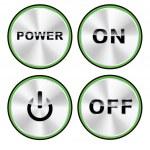 Vector - potencia botón offset — Vector de stock