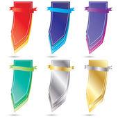 Vecteur couleur publicité jeu de balises — Vecteur