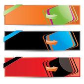 Set di banner sito web2 moderno vettoriale — Vettoriale Stock