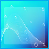 Abstract blue vector brochure/background with bubbles — Stock vektor