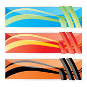 Vector color web banner set — Stock Vector