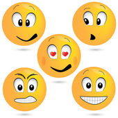 Vector emoticon set — Stock Vector