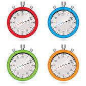 Vector Kleurset stopwatch — Stockvector