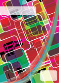 Vecteur couleur abstrait — Vecteur