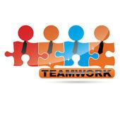 Vector Teamwork symbol — Stock Vector