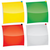Vector color notepaper set — Stock Vector