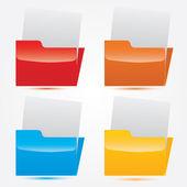 Vector modern folder design set — Stock Vector