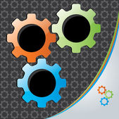 Vector Colorful 3d gears teamwork background / brochure — Stock Vector