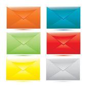 Vector Color envelope set — Stock Vector