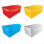 Vector color box set — Stock Vector