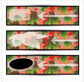 Vector autumn banner set — Stock Vector