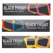 Vector modern Black Friday banner set — Vettoriali Stock