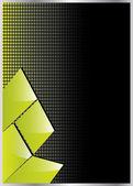 ベクトル緑の抽象的なパンフレットのデザイン — ストックベクタ