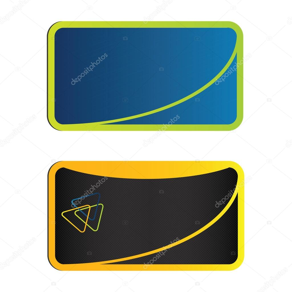 Vector modern business card design  — Stock Vector #14879977