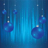 Vector blue Christmas background with balls — Stock Vector